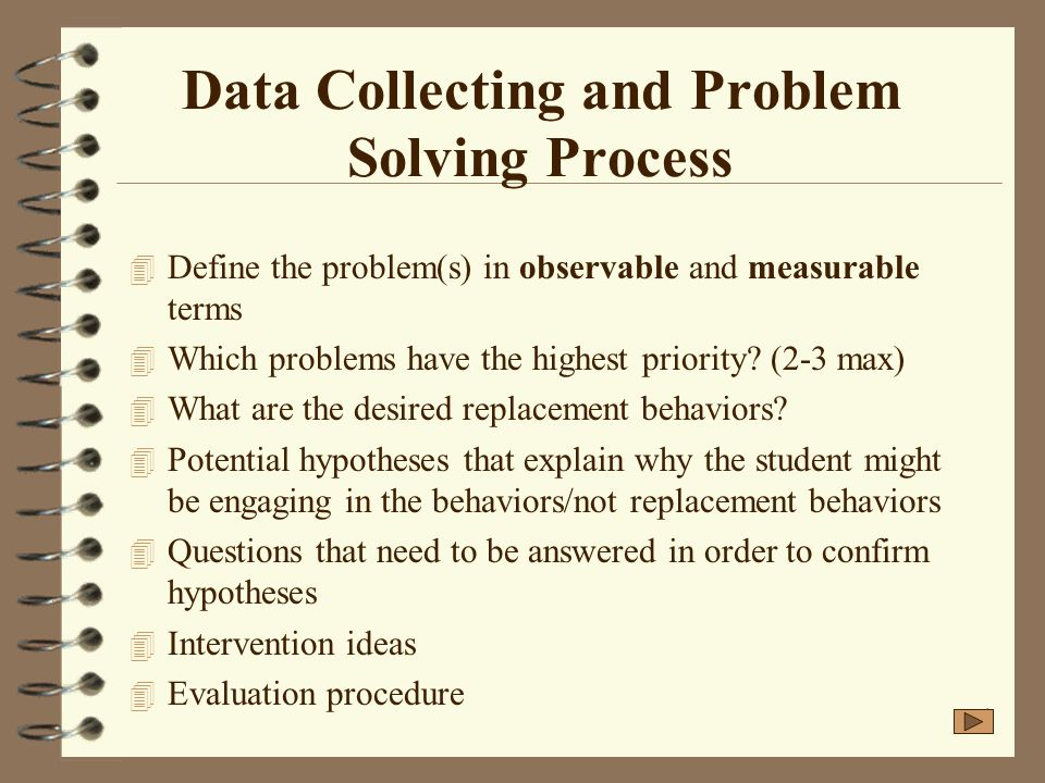 Data Collecting and Problem Solving Process