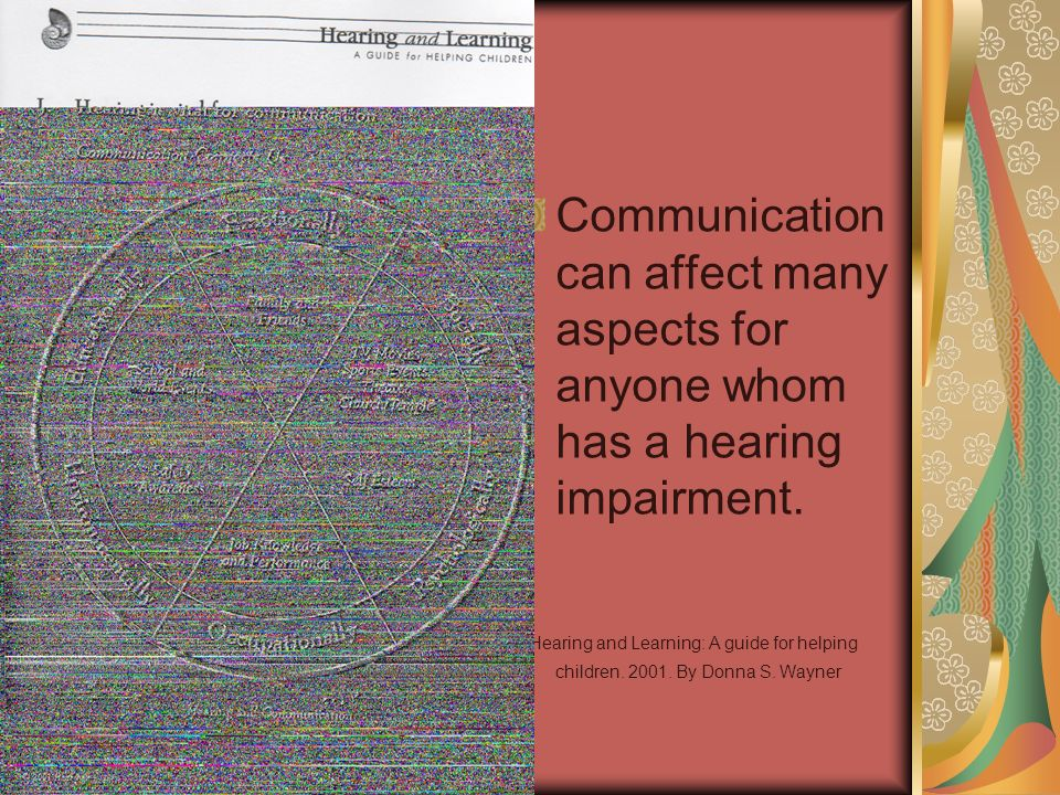 Communication can affect many aspects for anyone whom has a hearing impairment.