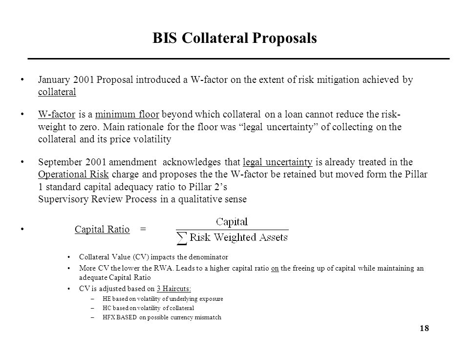 BIS Collateral Proposals