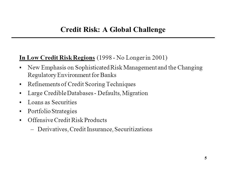 Credit Risk: A Global Challenge
