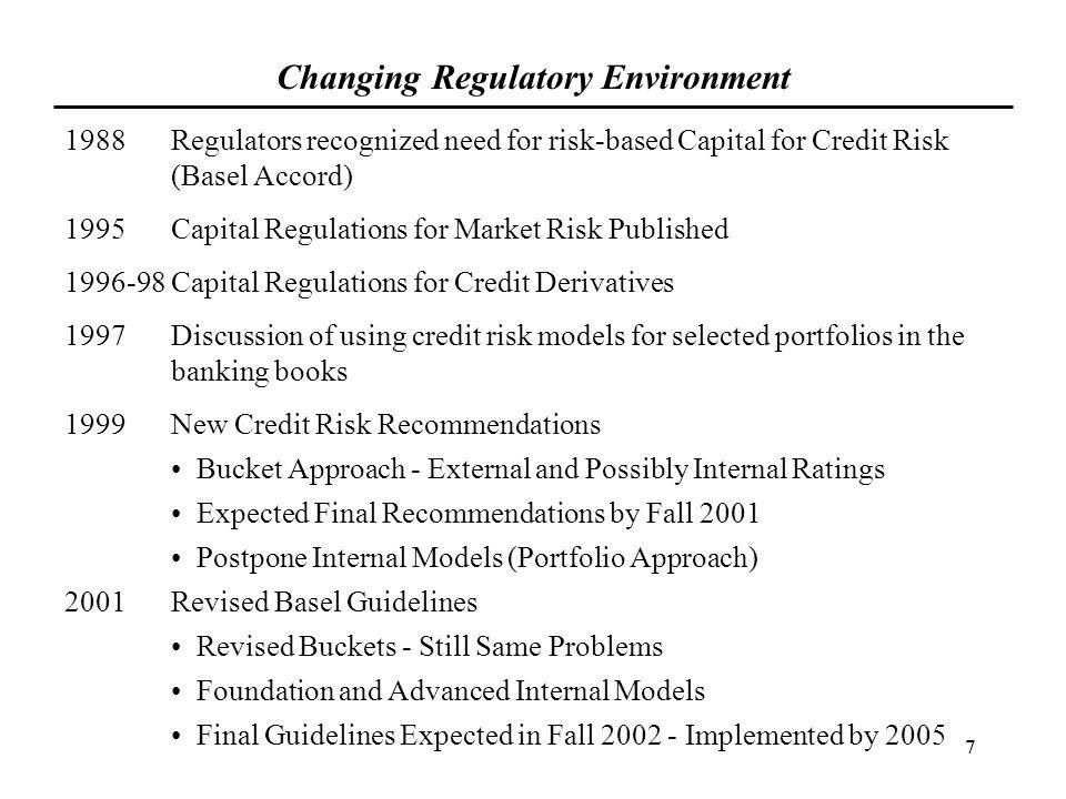 Changing Regulatory Environment