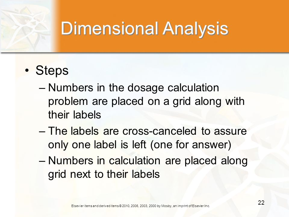 Dimensional Analysis Steps