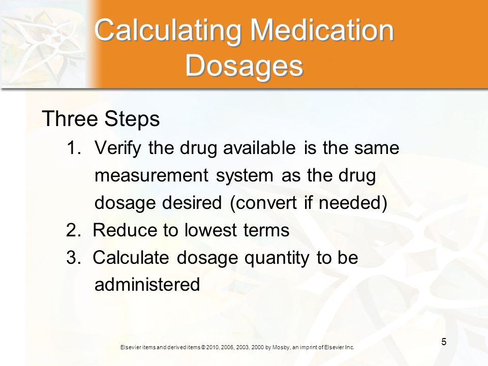 Calculating Medication Dosages