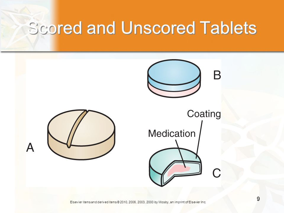 Scored and Unscored Tablets