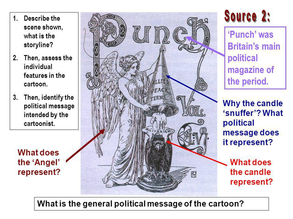 'Punch' was Britain's main political magazine of the period.