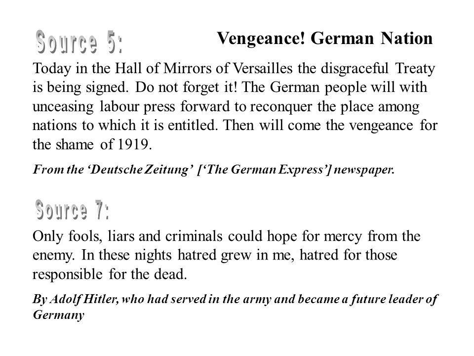 Vengeance! German Nation Source 5: