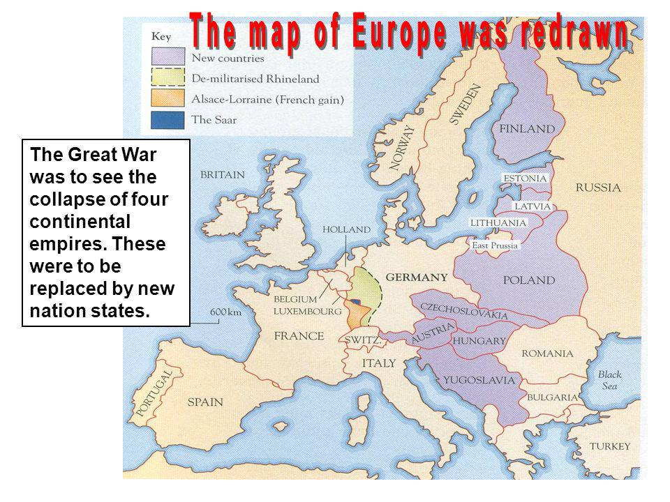 The map of Europe was redrawn