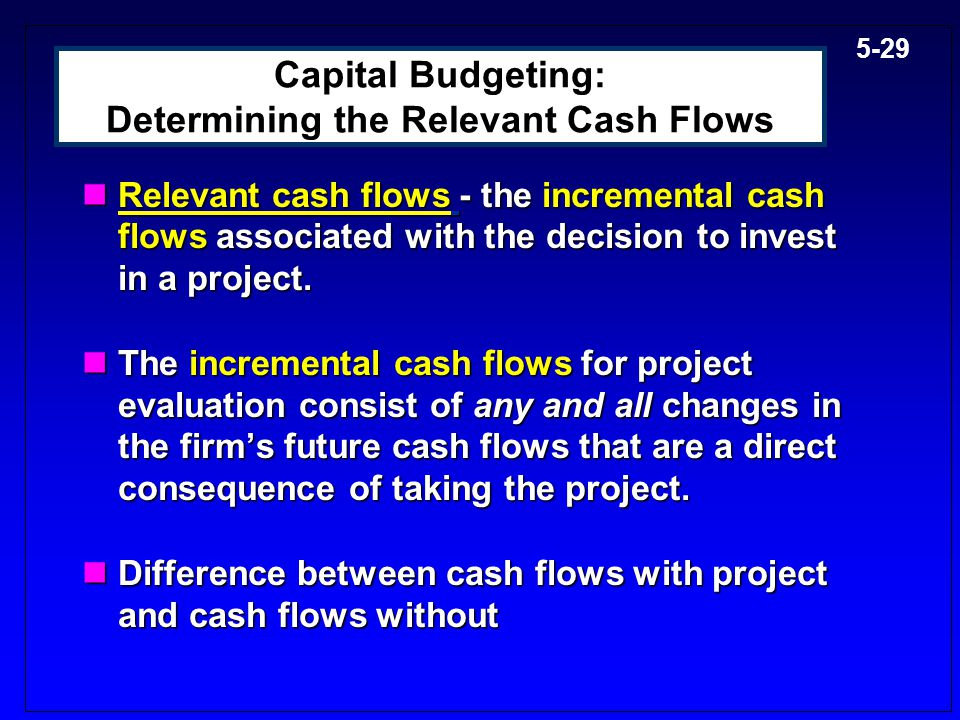 Capital Budgeting: Determining the Relevant Cash Flows
