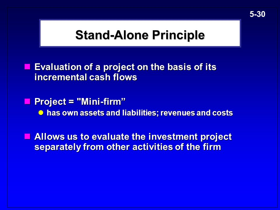 Stand-Alone Principle