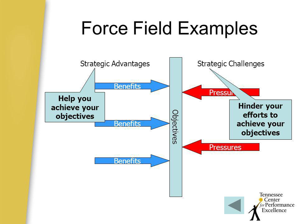 Force Field Examples Strategic Advantages Objectives