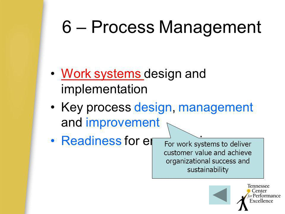 6 – Process Management Work systems design and implementation
