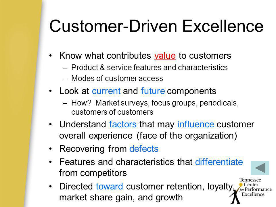 Customer-Driven Excellence