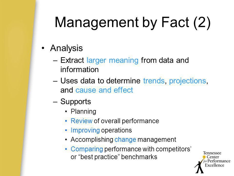 Management by Fact (2) Analysis
