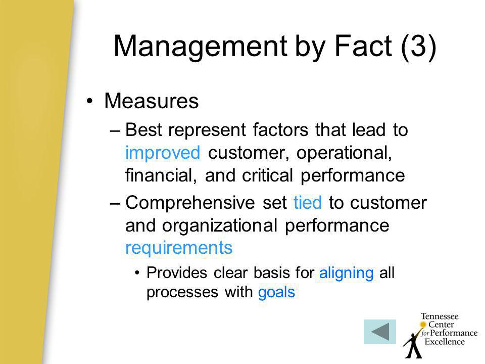 Management by Fact (3) Measures