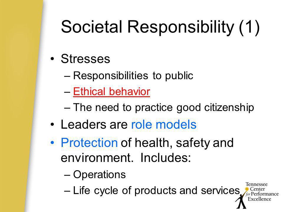 Societal Responsibility (1)