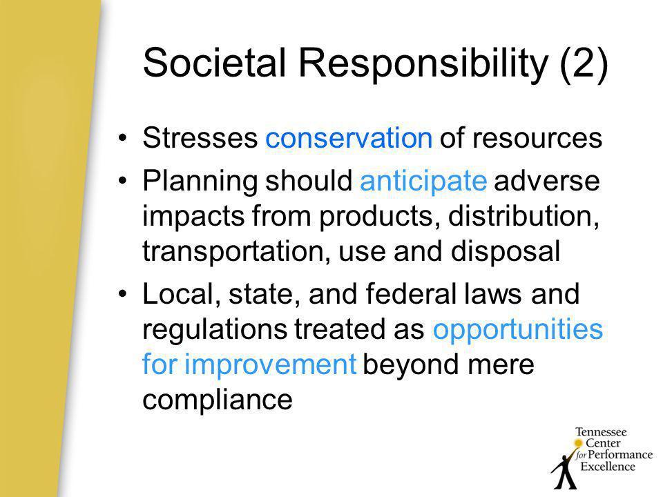 Societal Responsibility (2)
