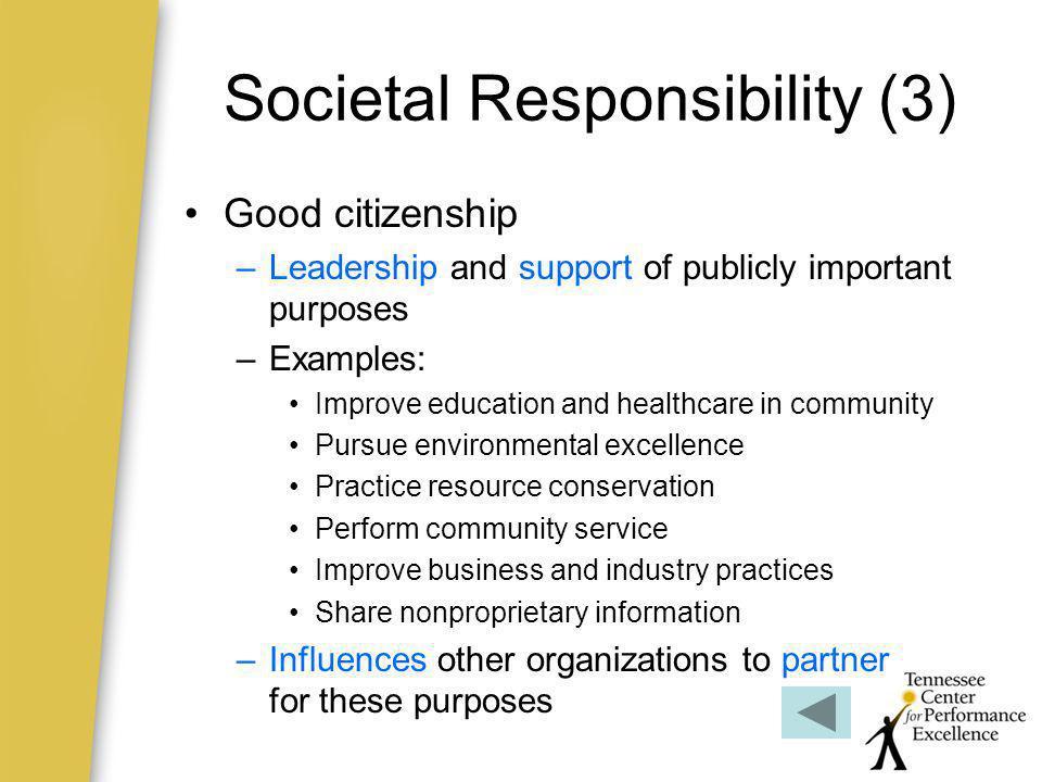 Societal Responsibility (3)