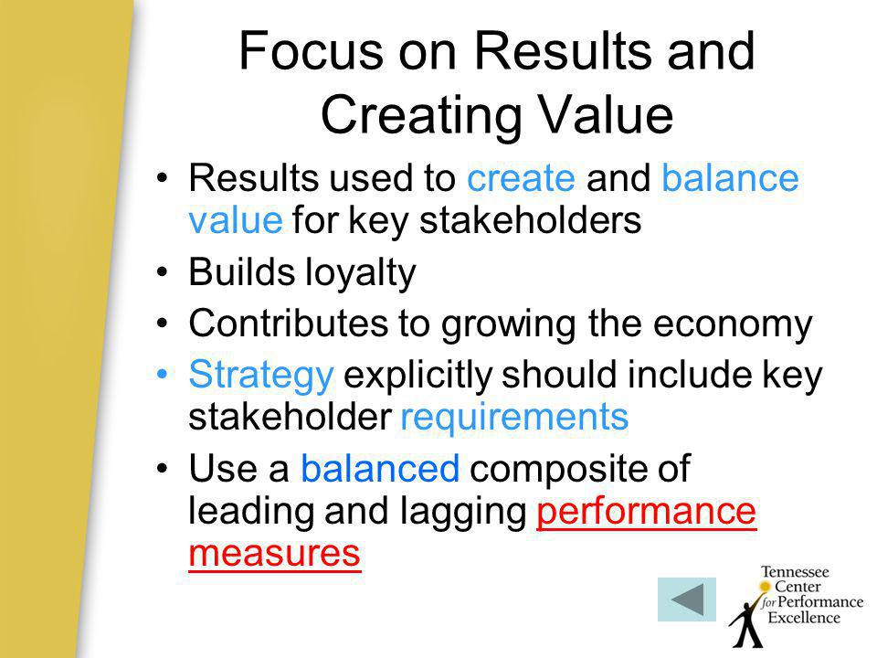 Focus on Results and Creating Value