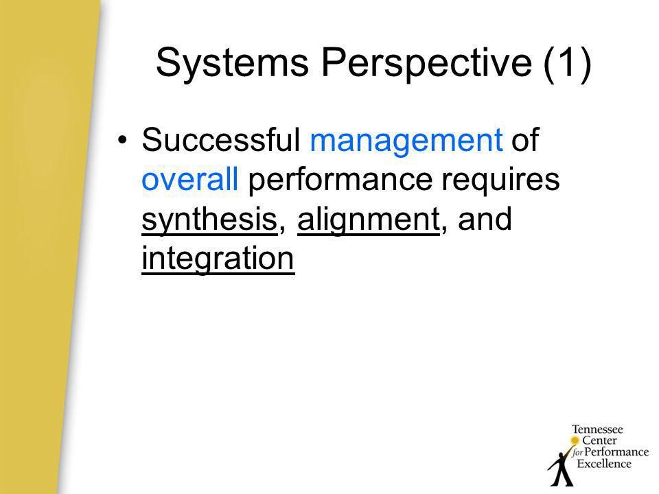 Systems Perspective (1)