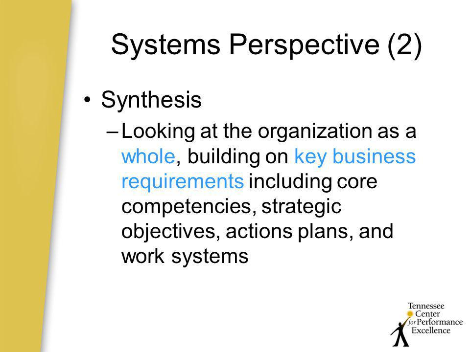 Systems Perspective (2)
