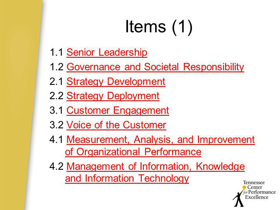 Items (1) 1.1 Senior Leadership