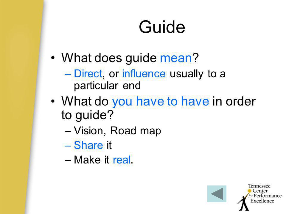 Guide What does guide mean