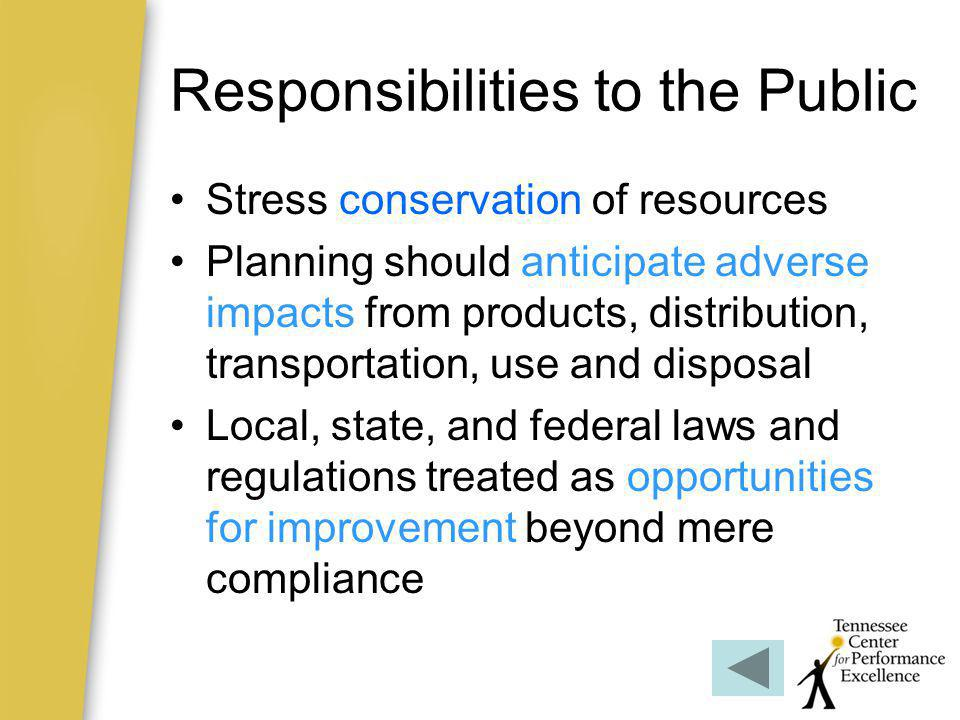 Responsibilities to the Public