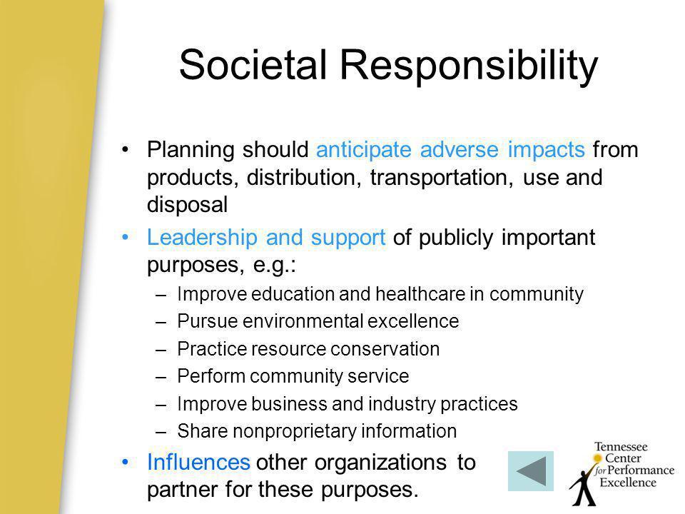 Societal Responsibility