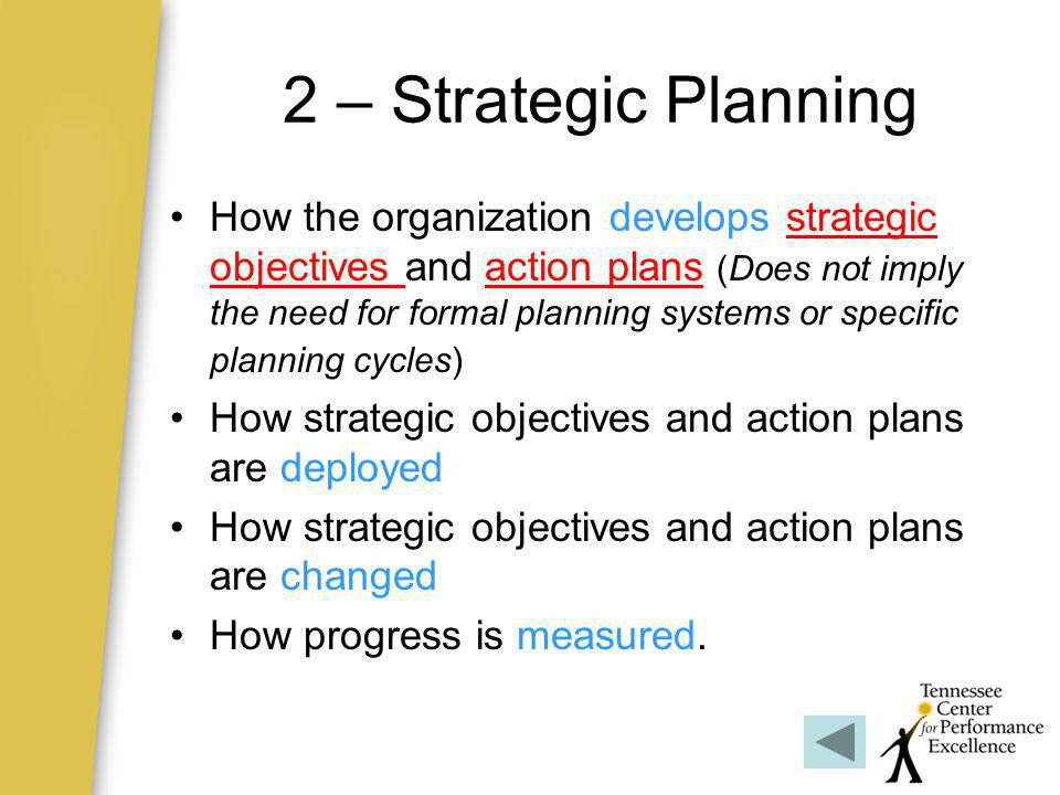2 – Strategic Planning