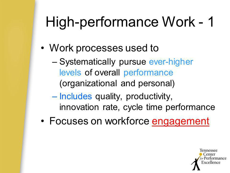 High-performance Work - 1