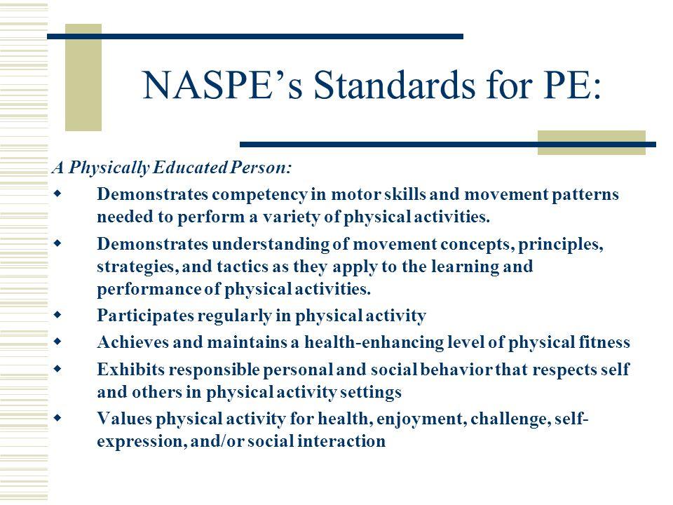NASPE's Standards for PE: