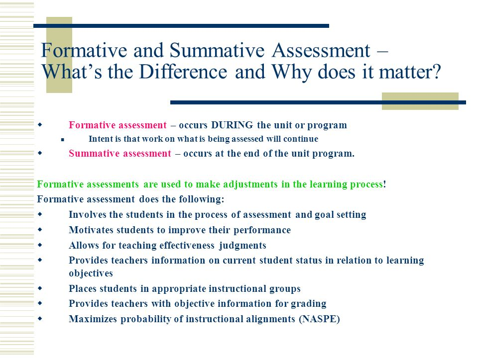 Formative and Summative Assessment – What's the Difference and Why does it matter