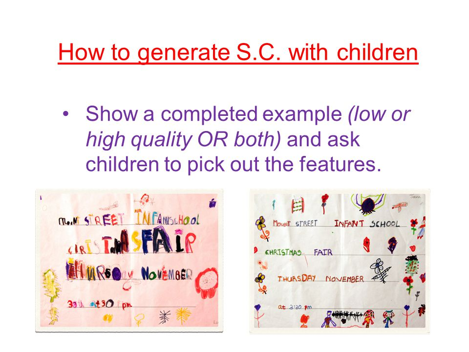 How to generate S.C. with children