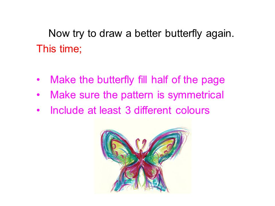 Now try to draw a better butterfly again.