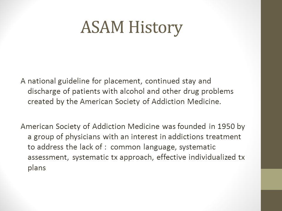 ASAM History