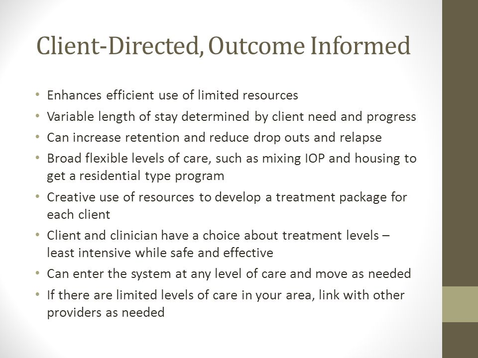 Client-Directed, Outcome Informed