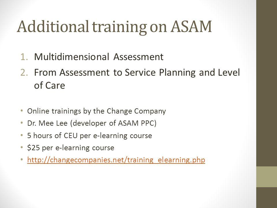 Additional training on ASAM