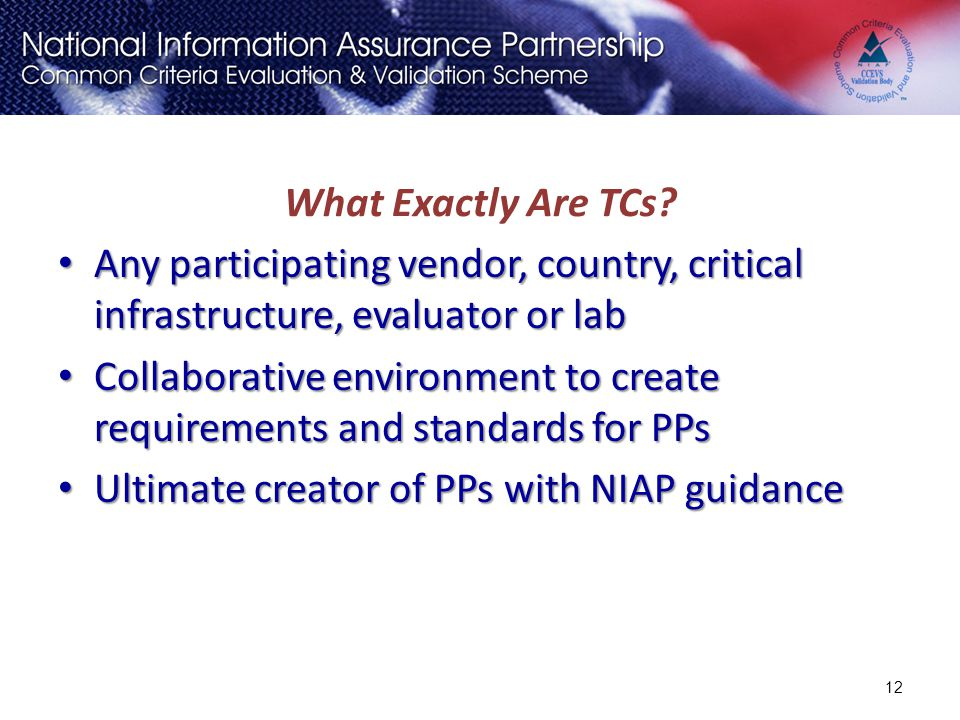 Collaborative environment to create requirements and standards for PPs