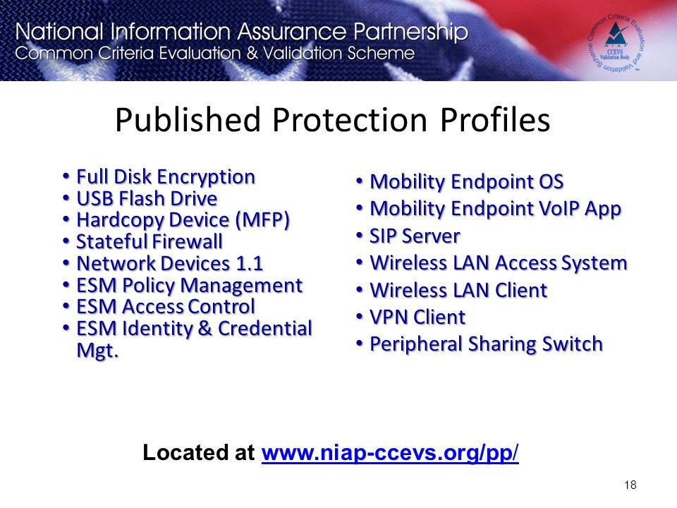 Published Protection Profiles