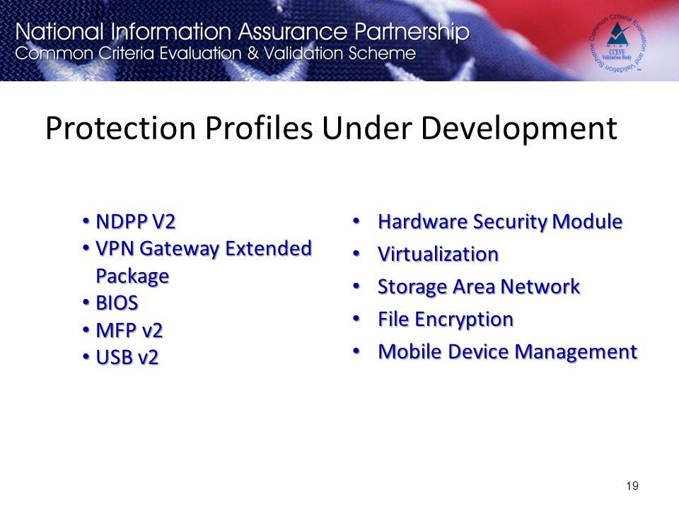 Protection Profiles Under Development