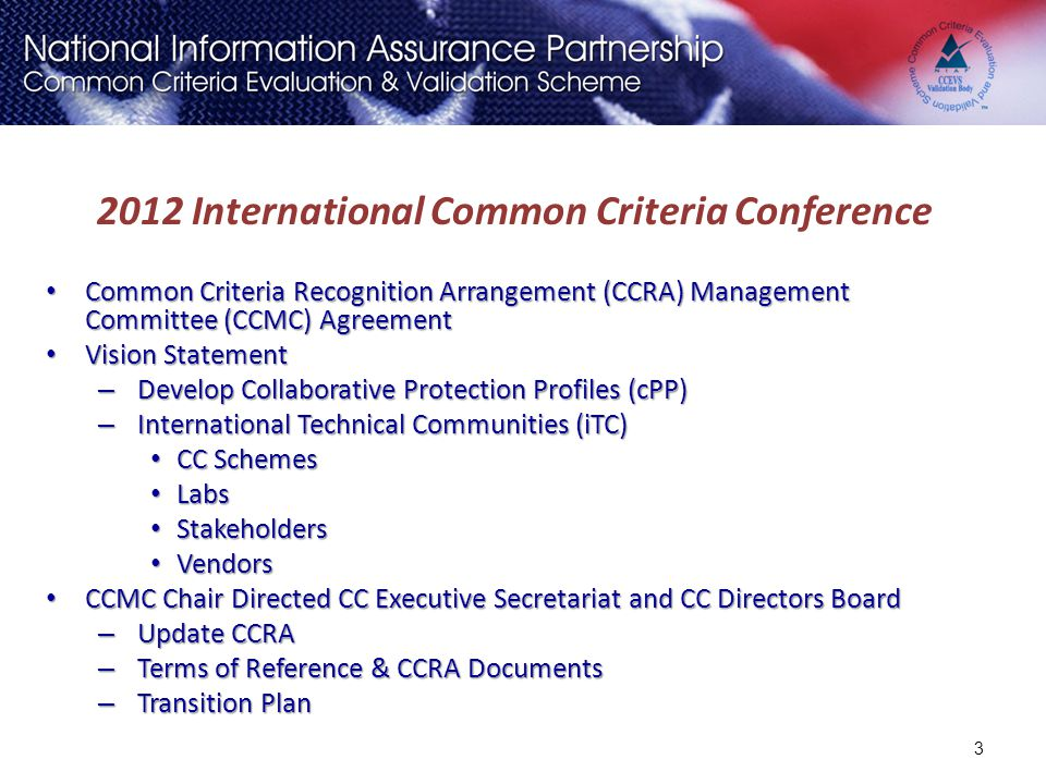 2012 International Common Criteria Conference