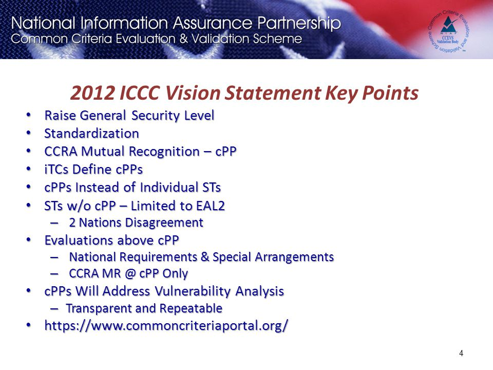 2012 ICCC Vision Statement Key Points