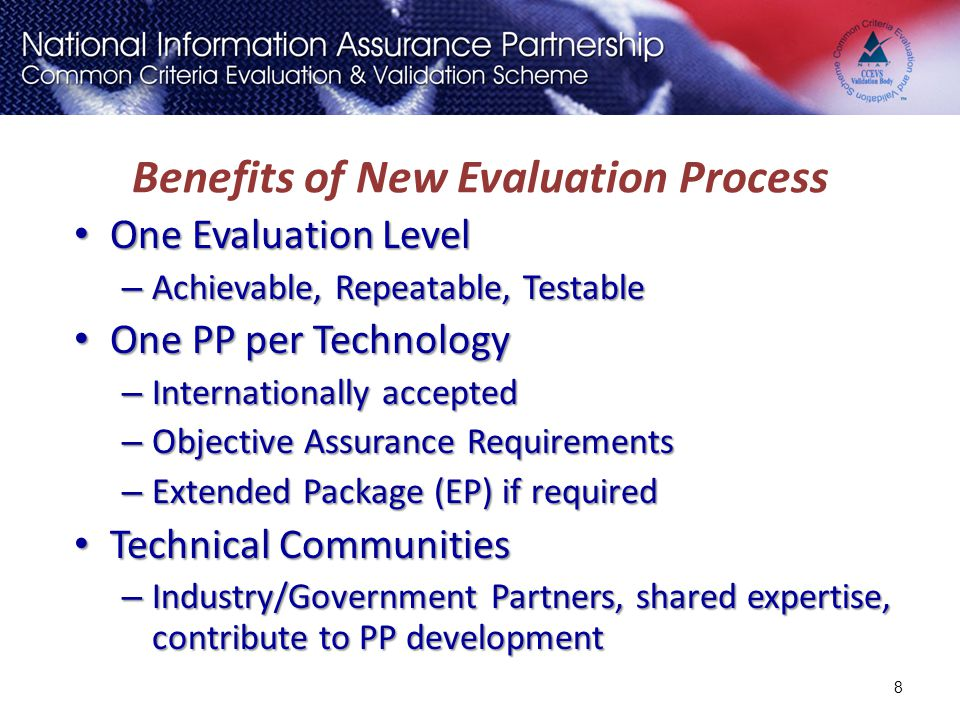 Benefits of New Evaluation Process