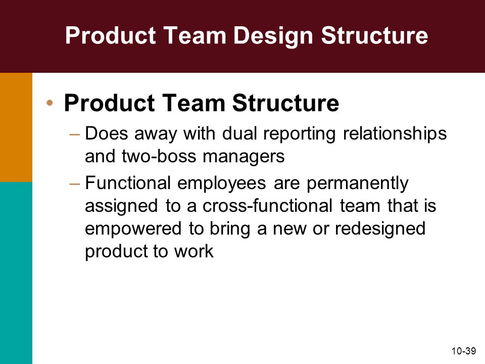 Product Team Design Structure