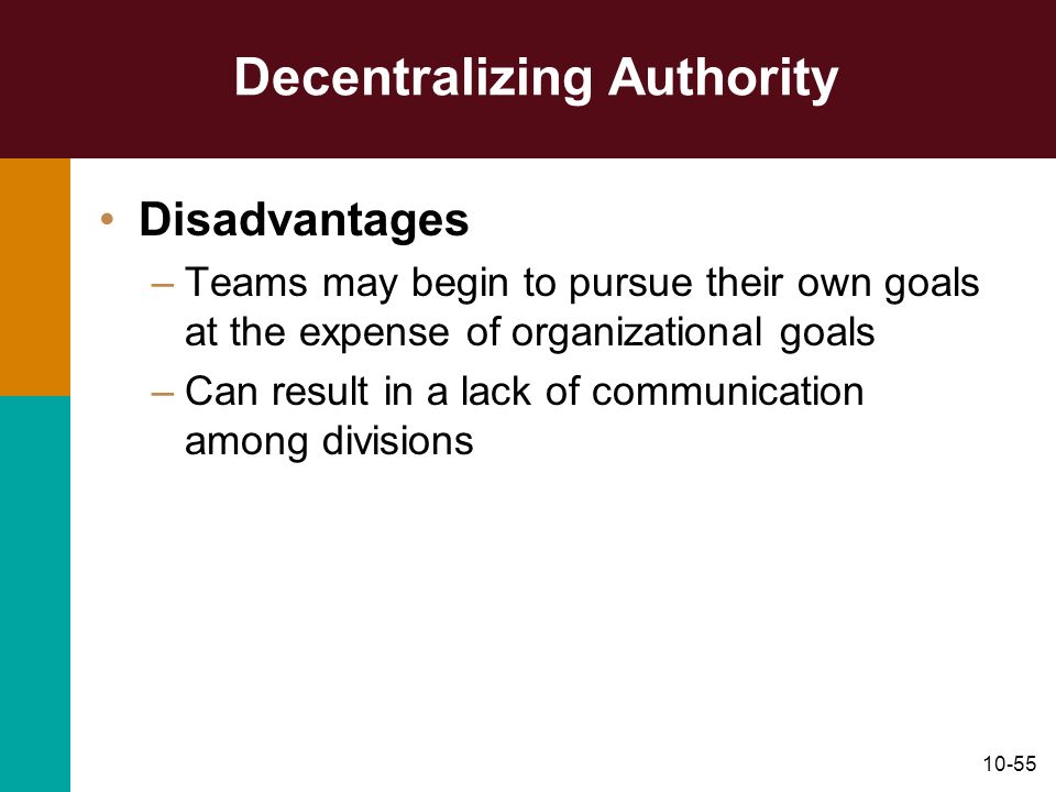 Decentralizing Authority