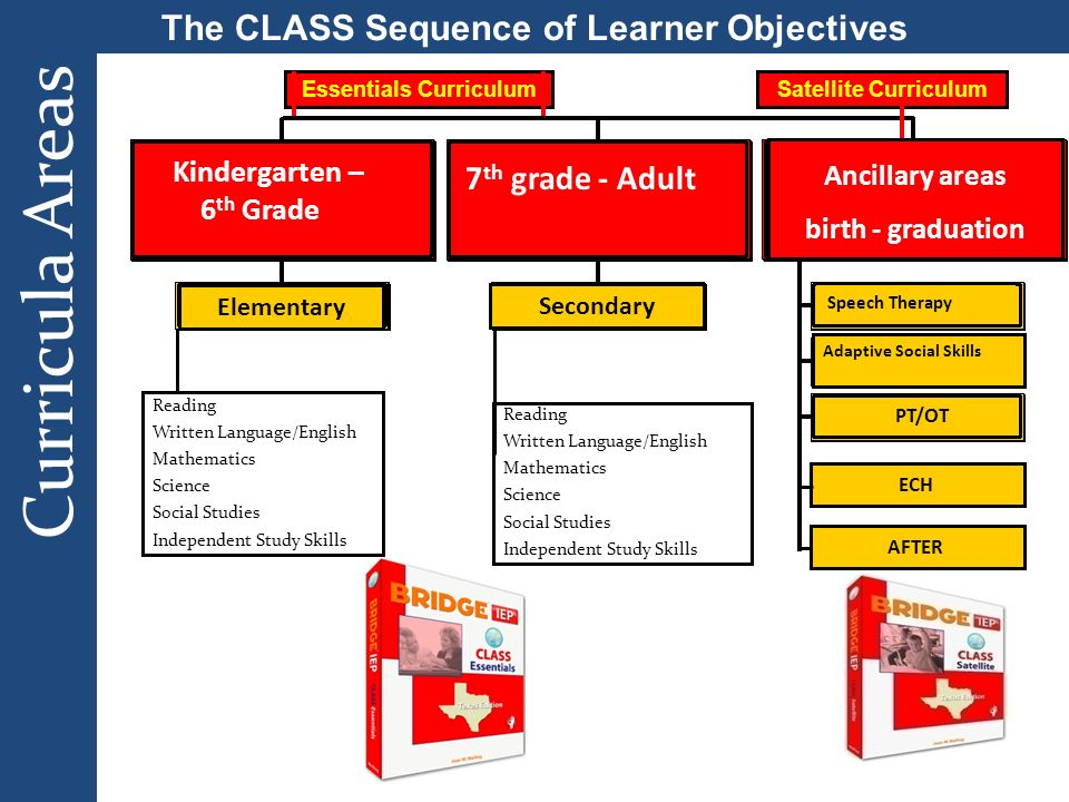 The CLASS Sequence of Learner Objectives Essentials Curriculum