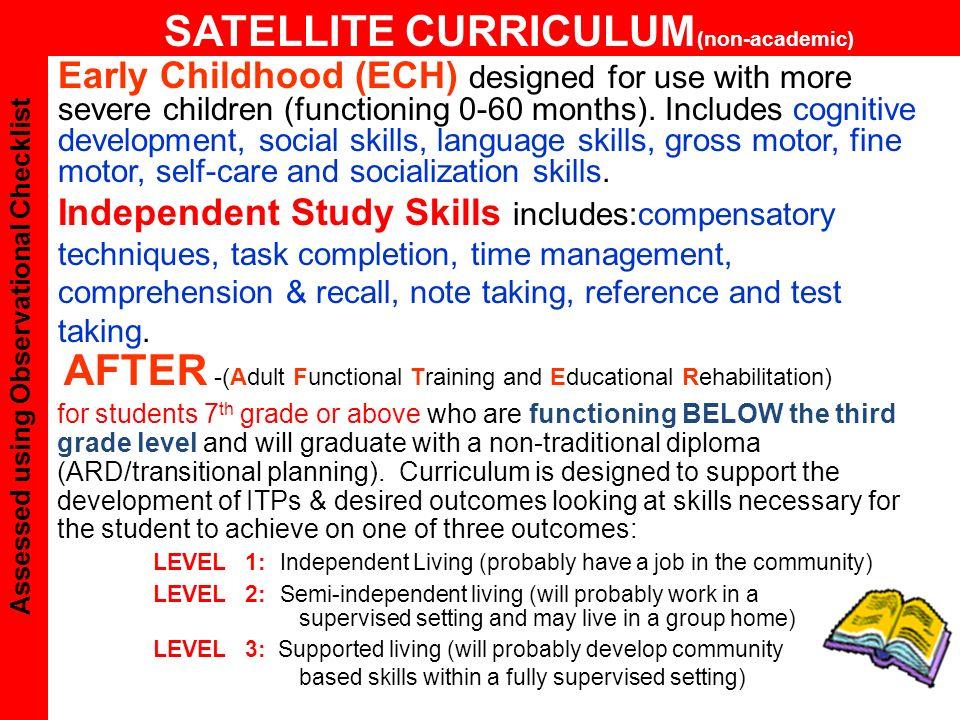 SATELLITE CURRICULUM(non-academic)