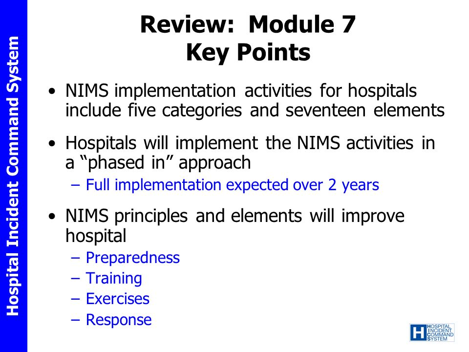 Review: Module 7 Key Points