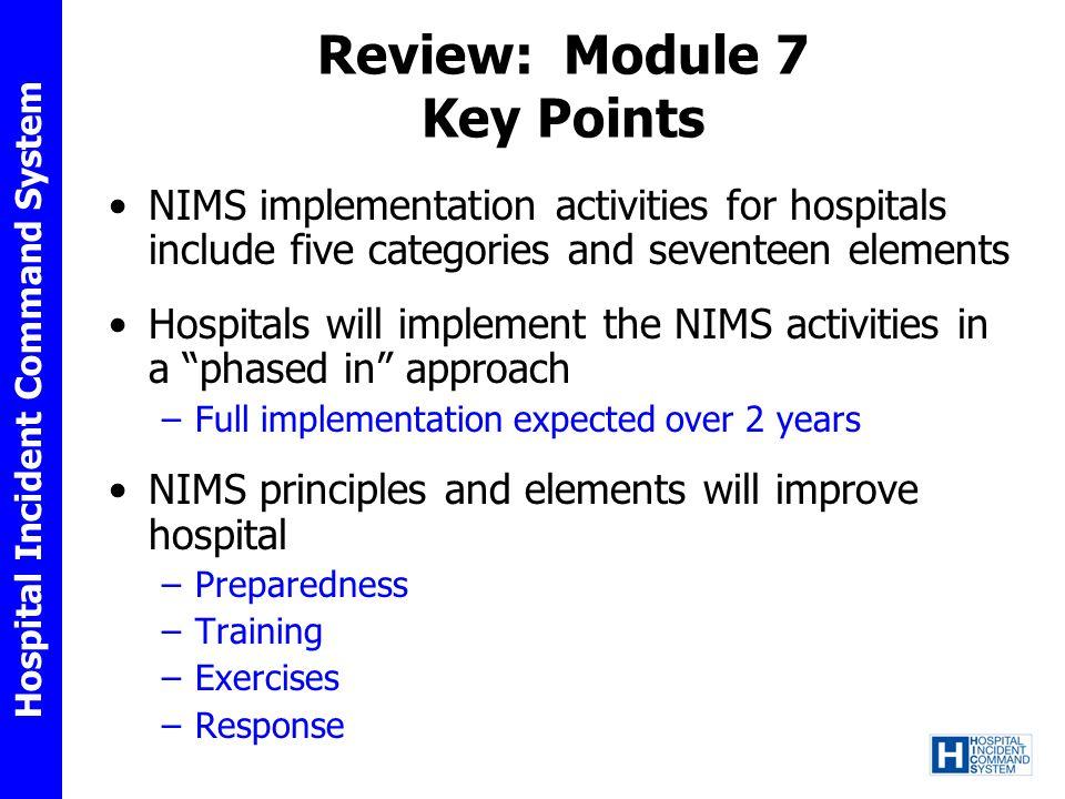 Review: Module 7 Key Points