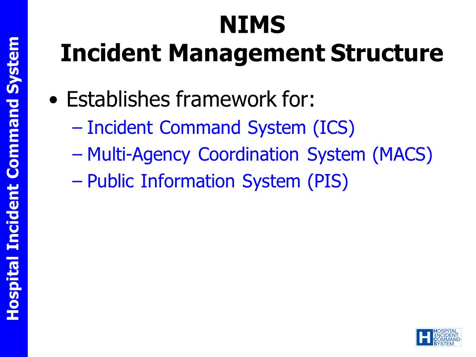 NIMS Incident Management Structure
